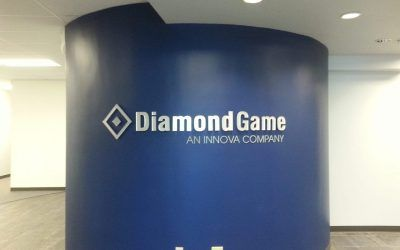 Lobby Sign for Diamond Game in Chatsworth, CA