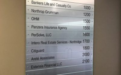 Directory Sign for Engineering Consultant in Northridge, CA