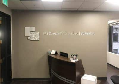 Professional Business Sign for Richardson Ober in Pasadena, CA
