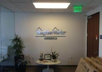 Office Reception Signage for Neighborworks in Los Angeles, CA