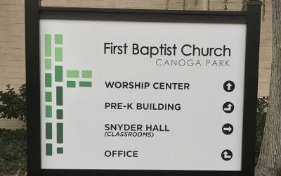 Post & Panel Sign for Church in Canoga Park, CA