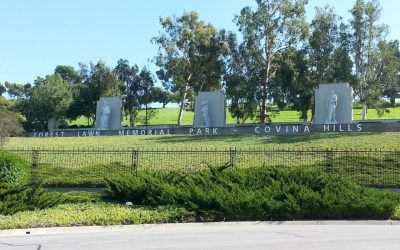 Entrance Sign for Forest Lawn in Covina, CA