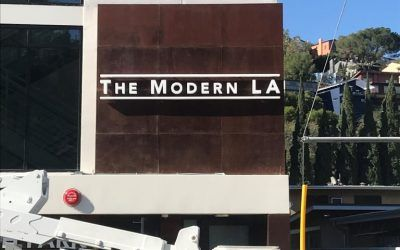 Exterior Signage for The Modern LA in Silver Lake, CA