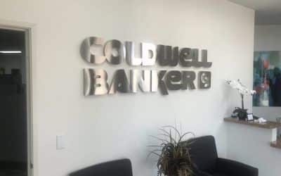 Stainless Steel Letters for Real Estate Company in Moorpark, CA