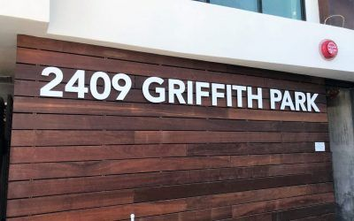Letter Signs for Apartment Building in Los Angeles, CA
