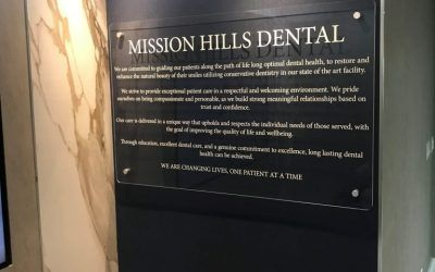 Acrylic Standoff Signs for Dentist in Mission Hills, CA