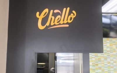 Interior Restaurant Signage for Chello Persian Cafe in Chatsworth, CA