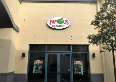 Lightbox Sign for Famous Apples in Northridge Fashion Center