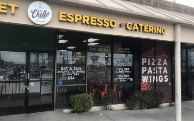 Storefront Vinyl for Chello Persian Cafe in Chatsworth, CA