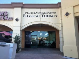 Acrylic Dimensional Letter Sign for Balance and Vestibular Center in Northridge, CA