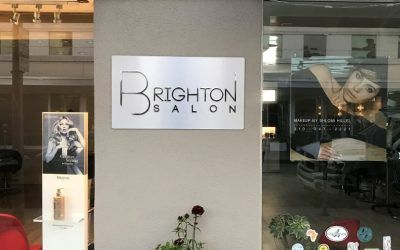 Storefront Signage for Brighton Salons in Beverly Hills, CA