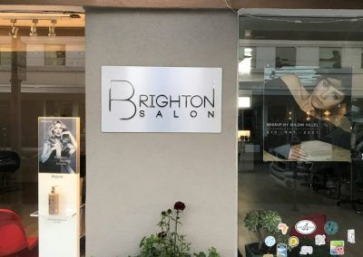 Metal Signage for Brighton Salons in Beverly Hills, CA