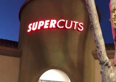 Front-lit Channel Letter Sign for Supercuts in Westlake Village, CA