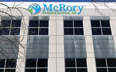 Signage for McRory Pediatric's New Location in Santa Clarita, CA