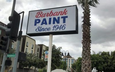 Pole Sign Refurbishment for Burbank Paint Co. in Burbank, CA