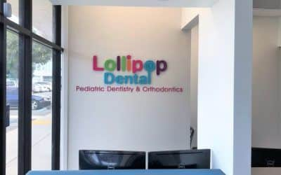 New Logo Sign for Lollipop Pediatric Dentistry's New Location in Costa Mesa, CA