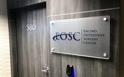 Signage for Encino Outpatient Surgery Center in Encino, CA