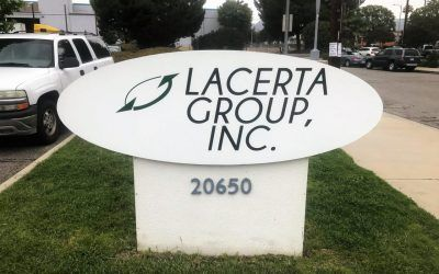 Exterior Signage for Lacerta Group in Chatsworth, CA