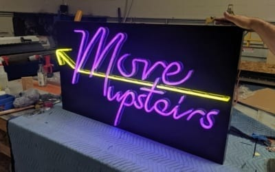 Faux Neon Sign for Retail Store in Chicago, IL