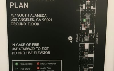 ADA Compliant Signs for New Building in Downtown Los Angeles, CA