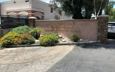 Entrance Sign Letters for Olive Branch Assisted Living in Northridge, CA