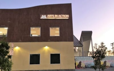 Exterior and Interior Signage for Arts in Action Charter School in East Los Angeles, CA