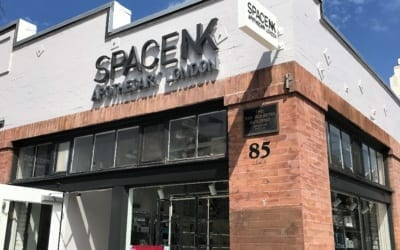 Storefront Signage for Space NK in Pasadena, CA