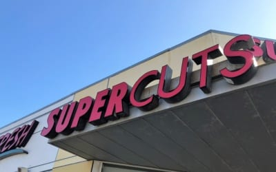 New Channel Letter Faces and LED Retrofit for Hair Salon in Culver City, CA