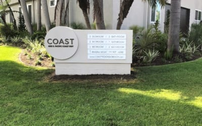 Monument Sign for COAST Apartments in Redondo Beach, CA