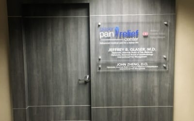 Custom Acrylic Signs for Pain Control Clinic in Encino, CA