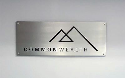 Aluminum Backer Lobby Sign for Investment Service in Los Angeles, CA