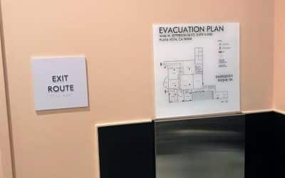 Evacuation Maps for Day Care Center in Playa Vista, CA