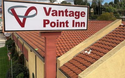 Exterior Signage for Vantage Point Inn in Woodland Hills, CA