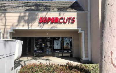 Custom Channel Letter Sign for Supercuts in Port Hueneme, CA