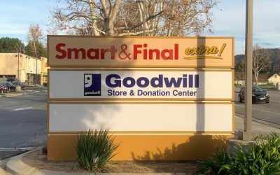 Illuminated Monument Sign for Shopping Center in Simi Valley, CA