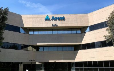 Front-lit Channel Letter Sign for Arete Associates in Northridge, CA
